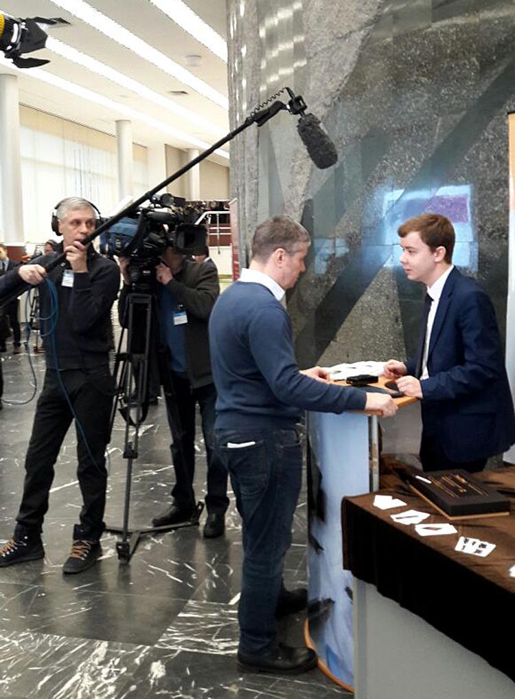 У Антона Аносова взяли интервью два федеральные канала